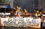 Estudantes e trabalhadores voltam às ruas pelo direito à aposentadoria e à educação