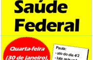 Saúde Federal: GT desta quarta (30) discute insalubridade, ponto eletrônico e ato do dia 4/2