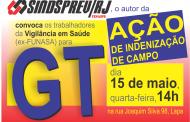 Funasa: GT desta quarta (15) traz informes da ação de indenização de campo