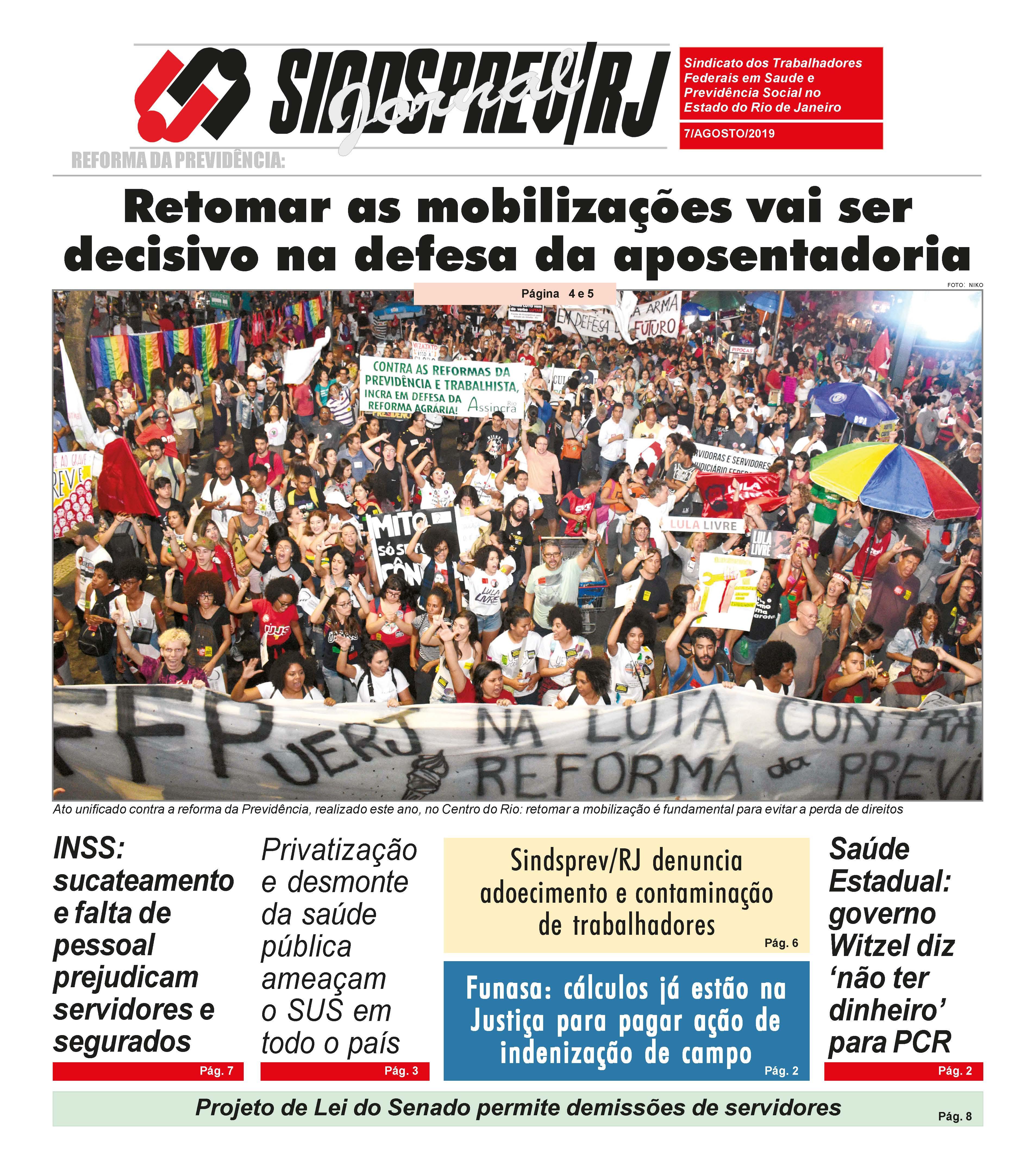 Jornal do Sindsprev/RJ | Agosto 2019