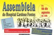 Servidores do Hospital Cardoso Fontes fazem assembleia dia 26/8