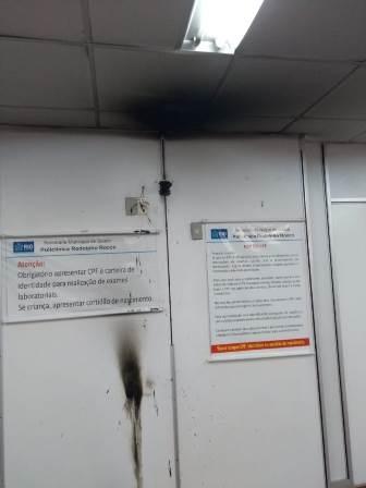 Descaso da Prefeitura do Rio faz ventilador pegar fogo no  PAM Del Castilho