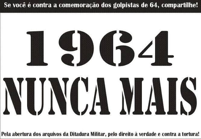 Ato no Rio repudiará golpe de 64 e defenderá liberdades democráticas e direitos sociais
