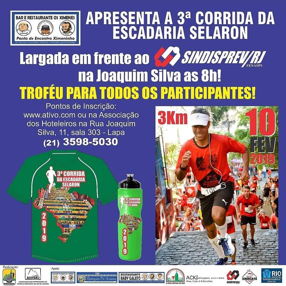 Lapa terá 3a Corrida da Escadaria Selarón neste domingo (10)
