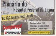 Servidores do Hospital da Lagoa fazem plenária de mobilização nesta quinta (12/3)