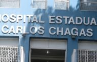 Protesto, nesta segunda (27/4), por proteção contra o Covid-19 no Hospital Carlos Chagas