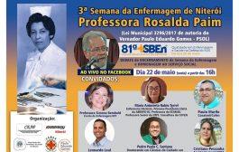III Semana de Enfermagem de Niterói termina na sexta (22/5) com debate ao vivo no Facebook