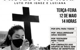 Profissionais do Hospital Antônio Pedro protestam nesta terça (12/5) contra descaso no fornecimento de EPIs e insumos