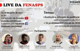 Fenasps promove hoje (18/6) videoconferência sobre problemas estruturais do INSS