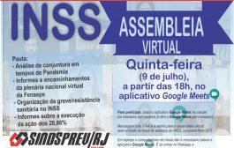 INSS: assembleia desta quinta-feira (9/7) organiza greve sanitária contra retomada do atendimento presencial