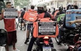 Entregadores fazem protesto nacional por direitos negados pelos aplicativos