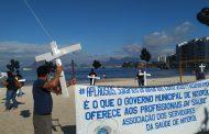 Servidores da saúde de Niterói realizaram ato no domingo (21/6) pela valorização profissional e contra precarização