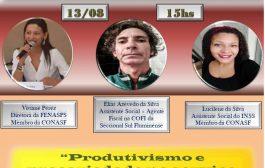 Nesta quinta(13/8), assista à videoconferência da Comissão Nacional dos Assistentes Sociais da Fenasps