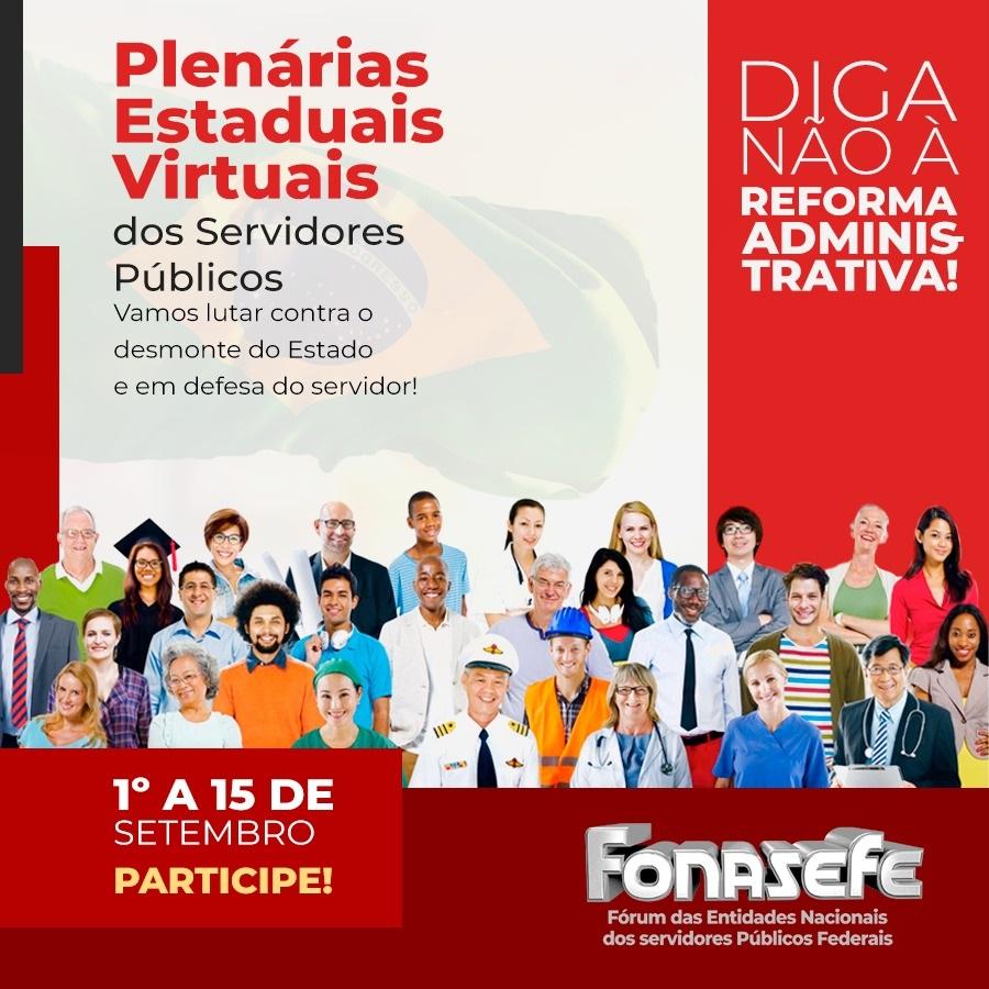 Plenárias organizarão campanha dos SPFs e luta contra a reforma administrativa