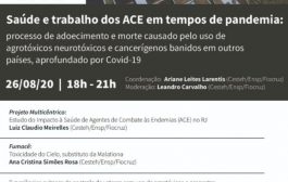 Dia 26/8, projeto multicêntrico debate saúde e trabalho dos ACE em tempos de pandemia