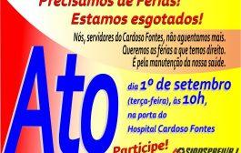 Servidores do Cardoso Fontes protestam na próxima terça (1/9) contra suspensão das férias