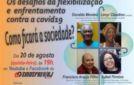 Na quinta-feira (20/8), videoconferência debate desafios da flexibilização e enfrentamento contra a covid-19