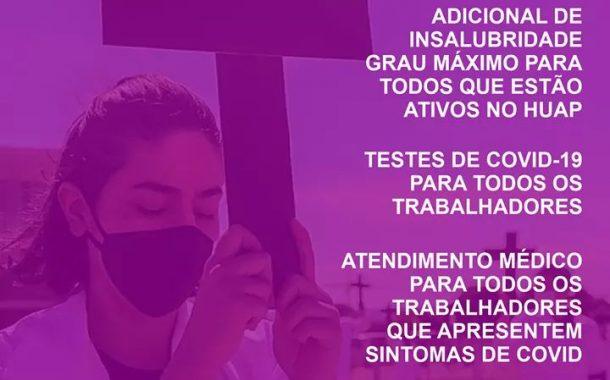 Na sexta (7/8), servidores do Hospital Antônio Pedro cobram pagamento de insalubridade e testagem para covid