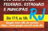 Fórum Estadual dos Servidores Federais do RJ realiza plenária virtual na próxima quinta-feira (17/9)