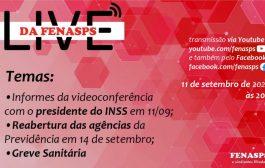 INSS: reabertura de agências e greve sanitária são pauta de transmissão da Fenasps