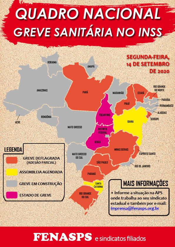 Mobilização pela greve sanitária do INSS começa a crescer nos estados