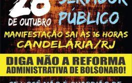 Servidores do RJ fazem manifestação nesta quarta (28/10) pelo arquivamento da reforma administrativa