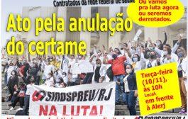 Nesta terça-feira (10/11), contratados da rede federal voltam às ruas para exigir a anulação do certame