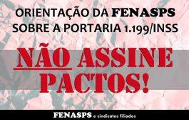 Fenasps orienta servidores do INSS a não assinarem pactos estabelecidos na Portaria nº 1.199/2020