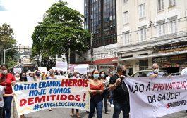 Contratados da rede federal voltam às ruas nesta quarta (16) para exigir anulação já do certame