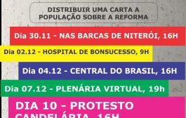 Fórum Estadual organiza participação do Rio nos atos do dia 10 contra a reforma administrativa