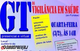 É hoje (3/2), às 14h: GT da Funasa informa sobre indenização de campo e define plano de lutas