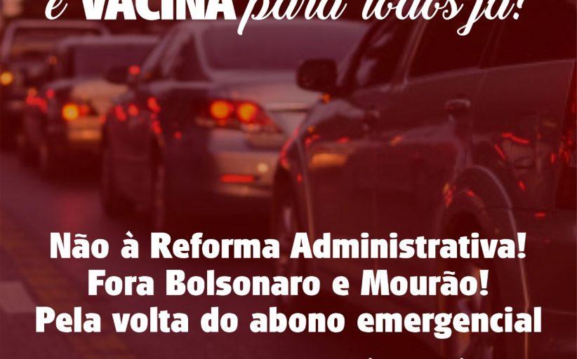 Carreata domingo (31/1), em Niterói, protesta contra reforma administrativa e exige vacina já
