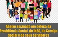 Assistentes Sociais do INSS lançam abaixo-assinado contra destruição da Previdência