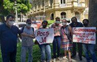 Em manifestação no Palácio Guanabara, servidores da saúde estadual cobram Plano de Cargos e vacina para todos