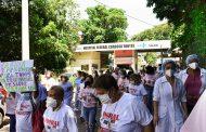 Em ato público nesta quarta (17), servidores do Cardoso Fontes exigiram vacinação já e condições de trabalho