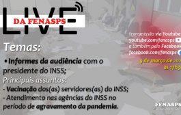 Assista à videoconferência sobre a primeira reunião virtual da Fenasps com a gestão do INSS em 2021